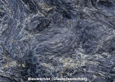 Blauwschist geplooid Austin Creek Cazadero Californie USA